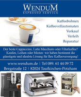 Wendum Espresso Service GmbH: Catering, beverage delivery service, Coffeeservice / Coffee Vending Machines