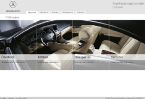 mercedes-benz - betriebsanleitung interaktiv cl-klasse