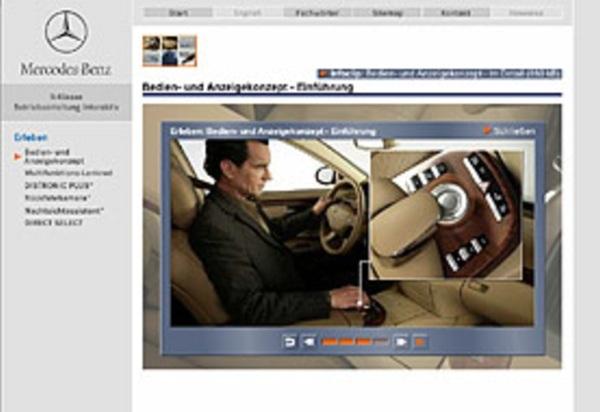 mercedes-benz - betriebsanleitung interaktiv s-klasse, industriefilm