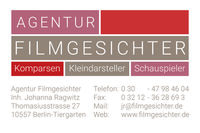 Agentur Filmgesichter | Johanna Ragwitz: Bit Player Agency, Casting Office, Casting Agency, Casting Agency for Youth, Casting Agency for Twins, Casting Agency for Children, Extras Agency, Actors Database