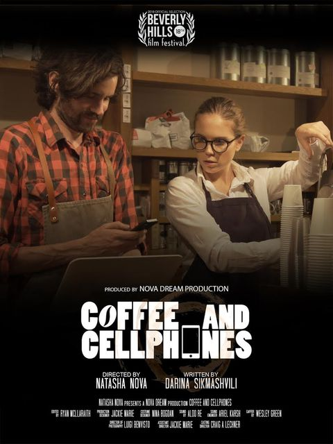 Coffee & Cellphones Plakat | © Natasha Nova 2018